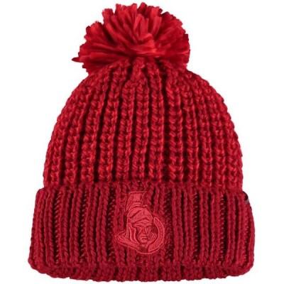 レディース スポーツリーグ ホッケー Ottawa Senators Fanatics Branded Women's Ace Knit Hat - Red - OSFA 帽子