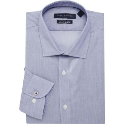 トミー ヒルフィガー Tommy Hilfiger メンズ シャツ トップス Slim-Fit Dress Shirt スレートブルー