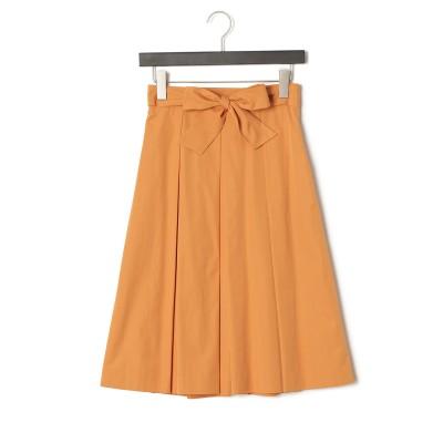タフタ カラースカート オレンジ 38