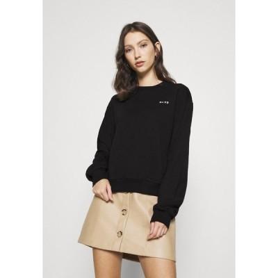 エヌ エー ケイ ディ パーカー・スウェットシャツ レディース アウター LOGO BASIC - Sweatshirt - black