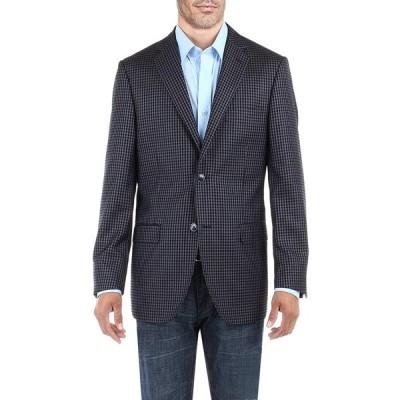 DTI BB Signature メンズ ドレススーツ ジャケット 2つボタンチェック モダンフィット ブレザーコート US サイズ: 52 Long
