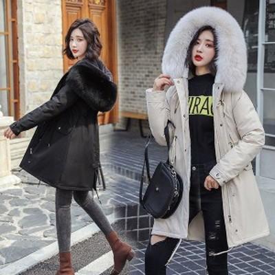 中綿コート レディース 40代 30代 ロング丈 軽い 冬服 裏起毛 アウター ダウン風コート 中綿ジャケット パーカー フード付き 暖かい 大き