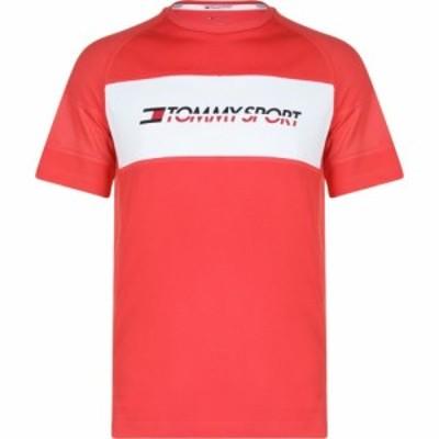 トミーヒルフィガー Tommy Sport メンズ Tシャツ トップス Perforated Mesh T Shirt Hibiscus