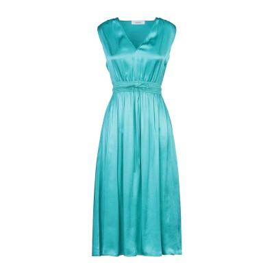 ジャッカ JUCCA 7分丈ワンピース・ドレス ターコイズブルー 46 レーヨン 100% 7分丈ワンピース・ドレス