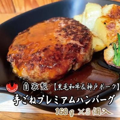 ハンバーグ グルメ 黒毛和牛 神戸ポーク 自家製 手ごね プレミアム 冷凍 お土産 おすすめ 贈答用 お歳暮