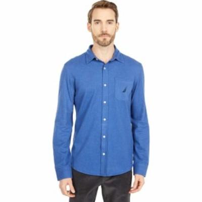 ノーティカ Nautica メンズ トップス Long Sleeve Woven Shirt Stellar Blue Heather