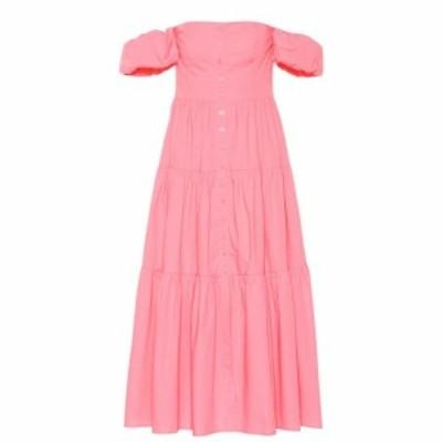 スタッド Staud レディース ワンピース ワンピース・ドレス Elio stretch-cotton midi dress