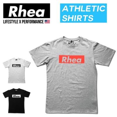 004 Rhea(レアー) トレーニングウェア フィットネス ストリートワークアウトTシャツ 半袖 ストレッチ【メンズ】