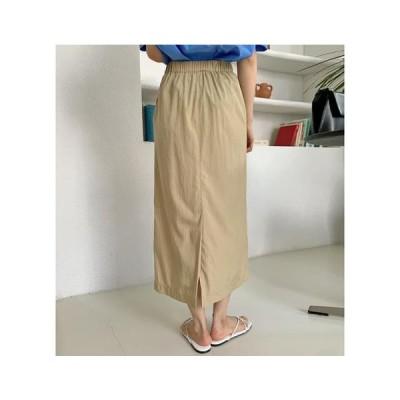 From Beginning レディース スカート light pintuck long skirt