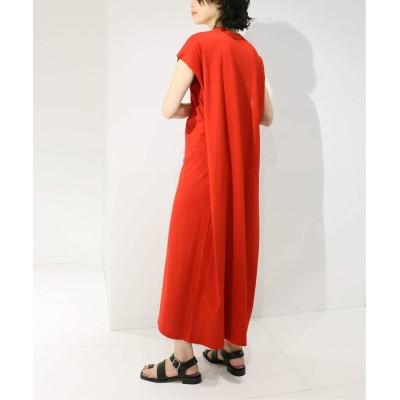 レディース シティショップ 【MAISON EUREKA for CITYSHOP】 GIZA COTTON  MAXI dress レッド フリー