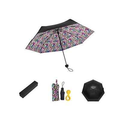 Admier 旅行傘 折り畳み傘 レディース 軽量 5段折 晴雨兼用 uvカット日傘 耐風撥水 丈夫 航空アルミ合金骨 傘ホル