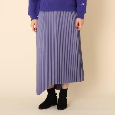 クチュール ブローチ Couture brooch 【手洗い可】ランダムプリーツスカート (ロイヤルパープル)
