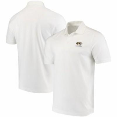 Cutter & Buck カッター アンド バック スポーツ用品  Cutter & Buck Missouri Tigers White Collegiate Advantage DryTec Polo