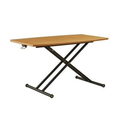 筑波産商 ラルカ 130 リフトテーブル/MDF/オーク NA ナチュラル