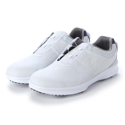 フットジョイ FootJoy FJ CONTOUR BOA メンズ防水スパイクゴルフシューズ (WHITE)