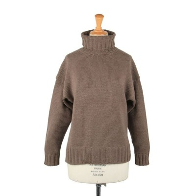 3G Geelong Lamb x Cashmere Drop Shoulder-Brown(SL3W-063) SLOANE(スローン)