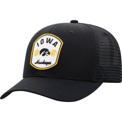トップオブザワールド メンズ 帽子 アクセサリー Top of the World Men's Iowa Hawkeyes Scene Adjustable Black Hat
