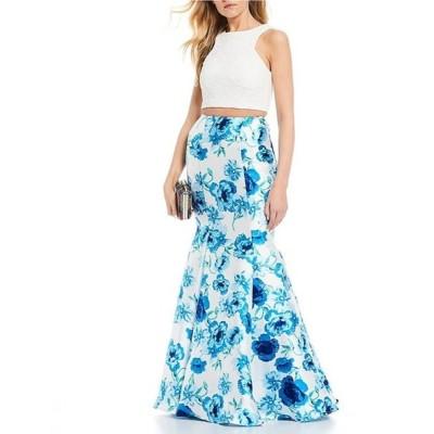 ビーダーリン レディース ワンピース トップス Lace Top with Floral Print Trumpet Skirt Two-Piece Dress