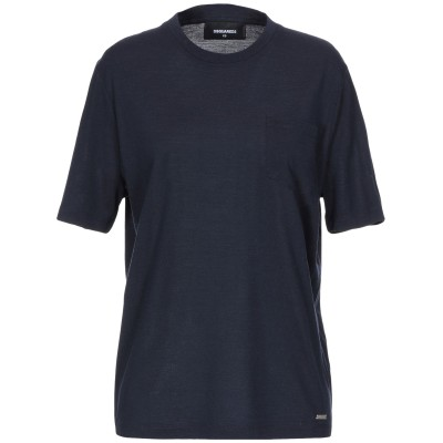 ディースクエアード DSQUARED2 T シャツ ダークブルー XXS ウール 100% T シャツ