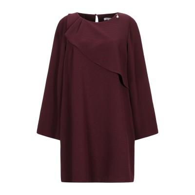レリッシュ RELISH ミニワンピース&ドレス ボルドー 46 ポリエステル 95% / ポリウレタン 5% ミニワンピース&ドレス
