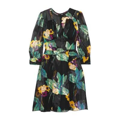 ANNA SUI ミニワンピース&ドレス ブラック 0 シルク 65% / ポリエステル 20% / レーヨン 15% ミニワンピース&ドレス
