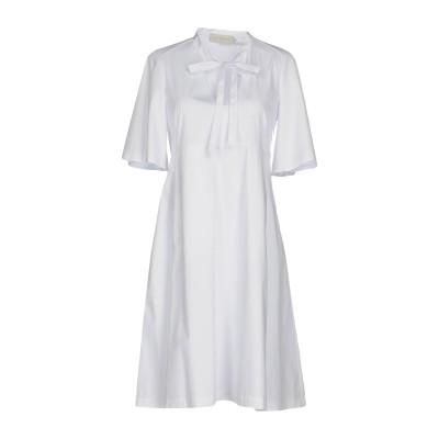 ロートレ ショーズ L' AUTRE CHOSE ミニワンピース&ドレス ホワイト 42 コットン 60% / ナイロン 37% / ポリウレタン