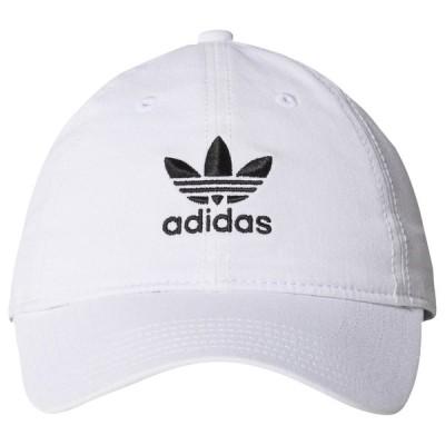 アディダス adidas Originals レディース キャップ スナップバック 帽子 Relaxed Strapback Hat White/Black/Black
