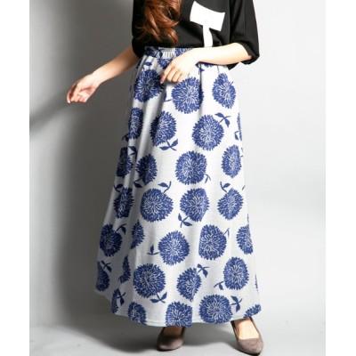 スカート BD/総柄スカート