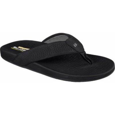 スケッチャーズ メンズ サンダル シューズ Men's Skechers Relaxed Fit Pelem Emiro Flip-Flop Black