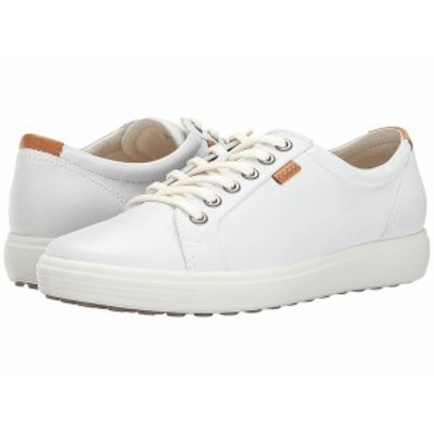 エコー レディース スニーカー シューズ Soft 7 Sneaker White/White