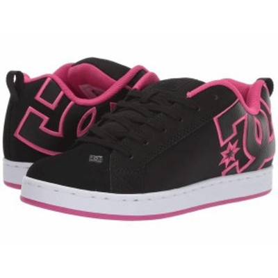 ディーシー レディース スニーカー シューズ Court Graffik W Black/Pink Stencil