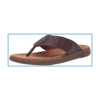 新品Clarks Men's Vine Oak Flip-Flop, Mahogany Leather, 100 M US【並行輸入品】