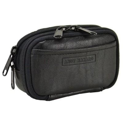 ベルトポーチ タバコポーチ 2室式日本製 豊岡製鞄 25871-01 黒 ___