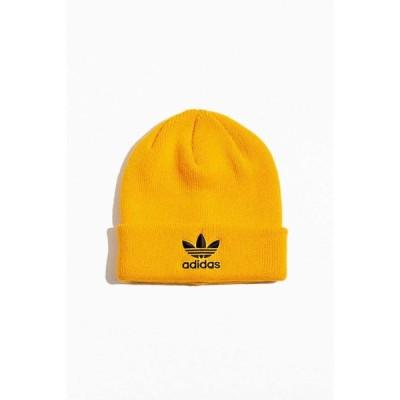 アディダス adidas メンズ ニット ビーニー 帽子 originals trefoil logo beanie Gold
