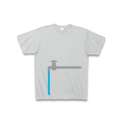蛇口T・両面 Tシャツ Pure Color Print(グレー)