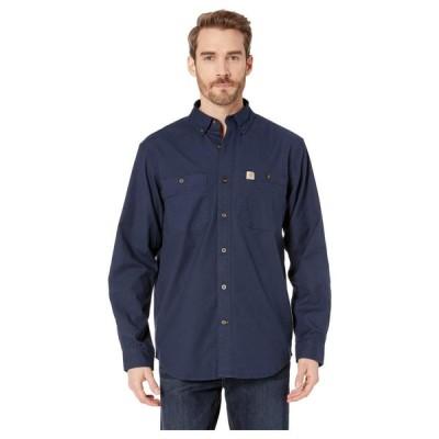 カーハート Carhartt メンズ シャツ トップス Rugged Flex Rigby Long Sleeve Work Shirt Navy