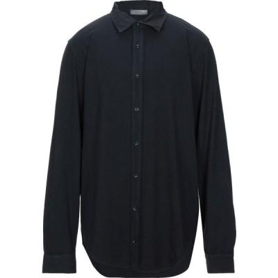 アルファス テューディオ ALPHA STUDIO メンズ シャツ トップス solid color shirt Dark blue