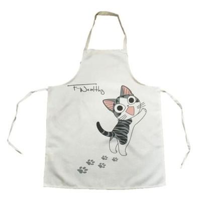 エプロン いたずら 猫 の キッチンエプロン ガーデニング ねこ ネコ 送料無料