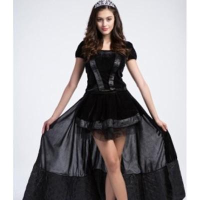 Store Babubabu ハロウィン コスチューム レディース 魔女 女王 ウィッチ バンパイア 吸血鬼 ゴシック ハロウィーン コスプレ 大人