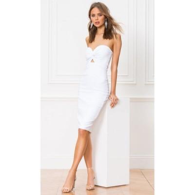 アバウトアス About Us レディース ワンピース ミドル丈 ワンピース・ドレス Tamara Midi Dress White