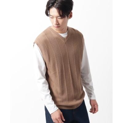 THE SHOP TK(Men)(ザ ショップ ティーケー(メンズ)) ニットアンサンブルクルーネックTシャツ