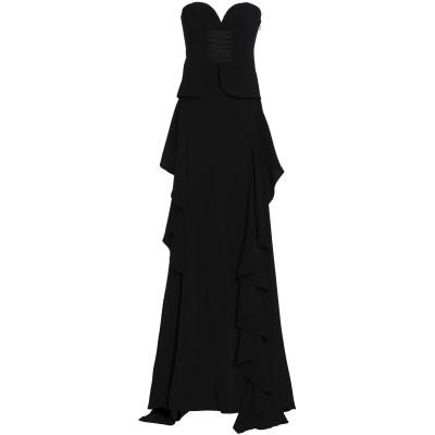 CINQ À SEPT ロングワンピース&ドレス ブラック 0 トリアセテート 69% / ポリエステル 31% ロングワンピース&ドレス