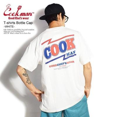 COOKMAN クックマン 半袖 Tシャツ tシャツ Tshirts Bottle Cap WHITE メンズ レディース 男女兼用 おしゃれ