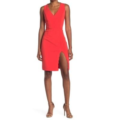 ベッツィジョンソン レディース ワンピース トップス V-Neck Sleeveless Dress POPPYRED