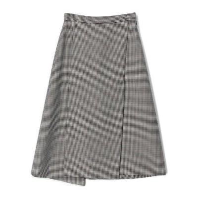 スカート ESTNATION / ウールハウンドトゥースアシメントリーAラインスカート