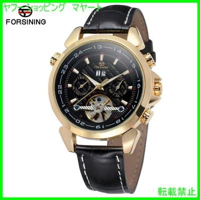 腕時計 メンズ おしゃれ 40代 30代 50代 ブランド  自動巻き FSG057M3 G3 トゥールビヨン 機械式 レザーバンド 本革