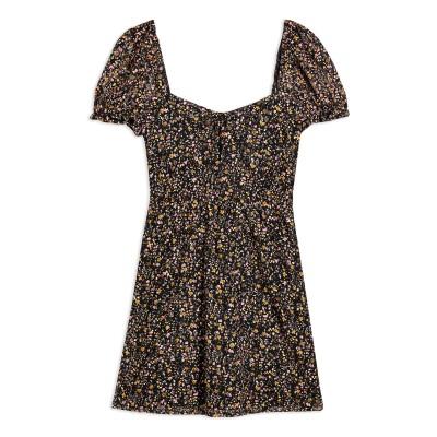 トップショップ TOPSHOP ミニワンピース&ドレス ブラック 12 ナイロン 89% / ポリウレタン 11% ミニワンピース&ドレス