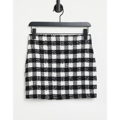 エイソス レディース スカート ボトムス ASOS DESIGN mini suit skirt in mono boucle