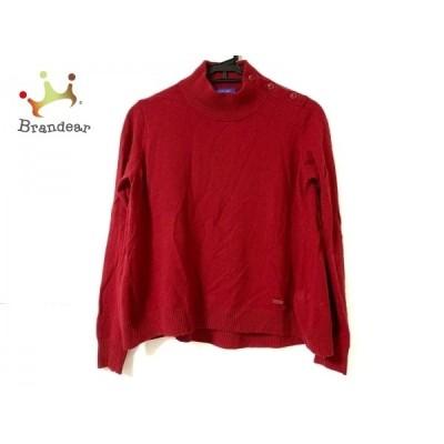 ブルーレーベルクレストブリッジ 長袖セーター サイズ38 M レディース レッド   スペシャル特価 20210106