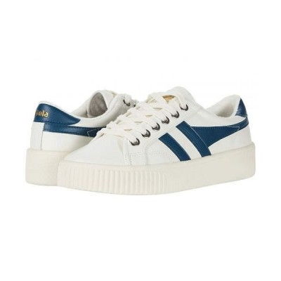 Gola ゴラ レディース 女性用 シューズ 靴 スニーカー 運動靴 Baseline Mark Cox Leather - Off-White/Vintage Blue